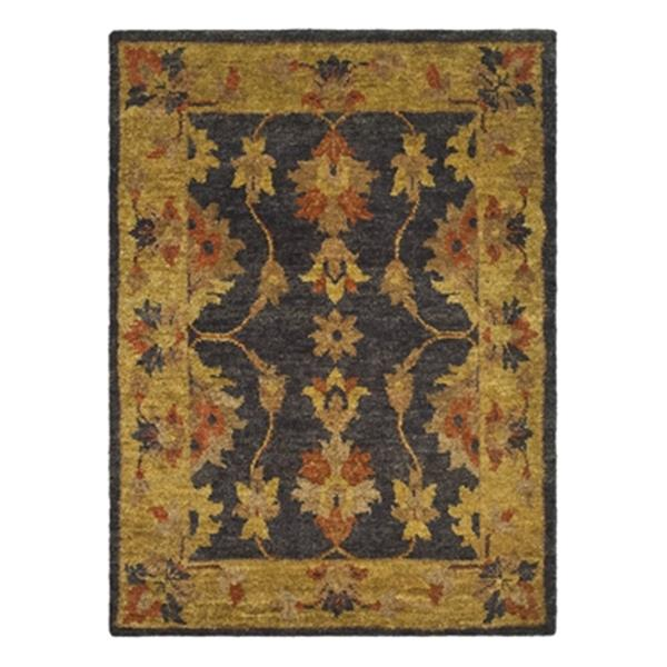 Safavieh Bohemian Indoor Floral Area Rug 3-ft x 5-ft  Charcoal/Gold