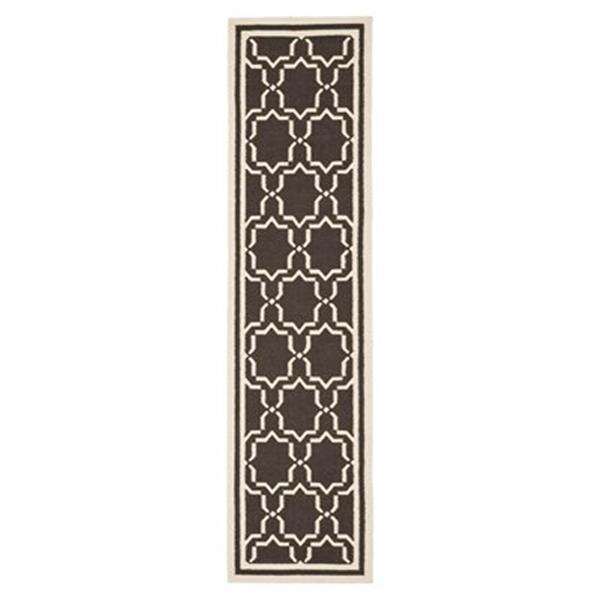 Safavieh Shuries Indoor Area Rug 2-ft 6-in x 10-ft Runner Chocolate/Ivory