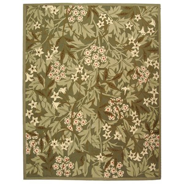 Safavieh Chelsea 5.75-ft x 3.75 Green and Ivory Area Rug