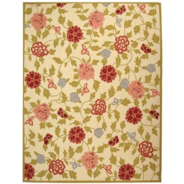 Safavieh Chelsea 5.75-ft x 3.75 Ivory and Green Area Rug