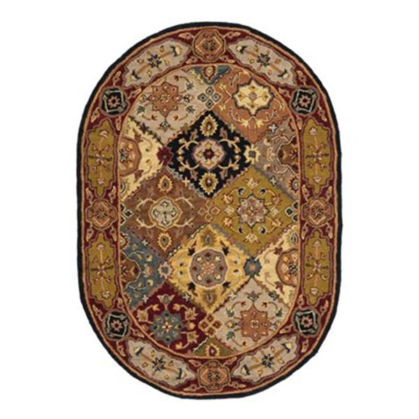 Safavieh Heritage 4-ft x 6-ft Red/Brown Rectangular Floral Tufted Area Rug
