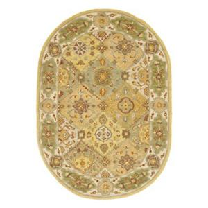 Safavieh Heritage 4-ft x 6-ft Cream Multi-Colored Rectangular Floral Tufted Area Rug