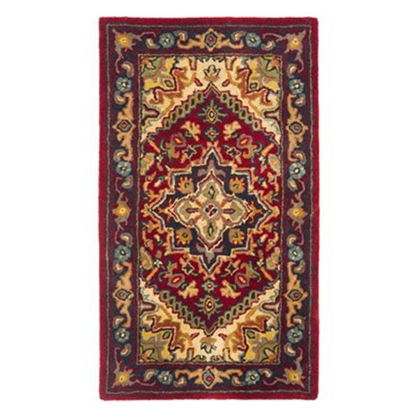 Safavieh Heritage 4-ft x 6-ft Red Rectangular Floral Tufted Area Rug