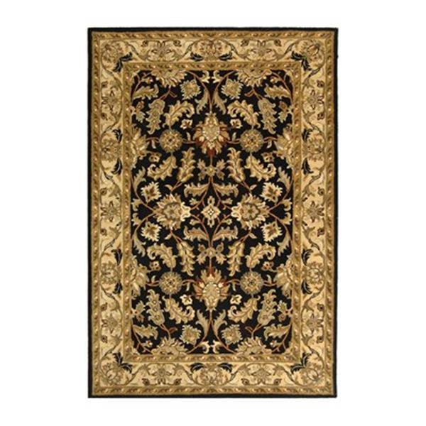 Safavieh Heritage 4-ft x 6-ft Black Rectangular Floral Tufted Area Rug