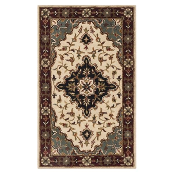Safavieh Heritage 4-ft x 6-ft Blue and Ivory Rectangular Floral Tufted Area Rug