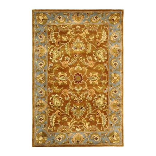 Safavieh Heritage 4-ft x 6-ft Brown Rectangular Floral Tufted Area Rug
