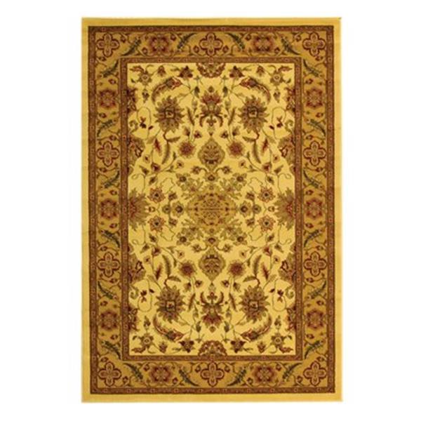 Safavieh Lyndhurst 5-ft x 8-ft Cream Rectangular Floral Woven Area Rug