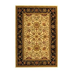 Safavieh Lyndhurst 5-ft x 8-ft Ivory and Black Square Floral Woven Area Rug