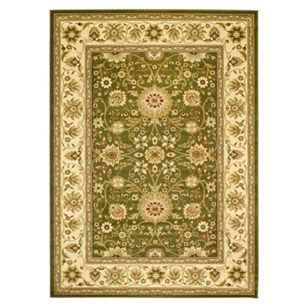 Safavieh Lyndhurst 5-ft x 8-ft Green and Ivory Rectangular Floral Woven Area Rug