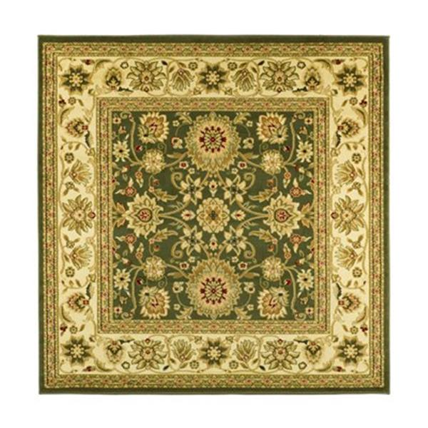 Safavieh Lyndhurst 6-ft x 6-ft Green and Ivory Square Floral Woven Area Rug