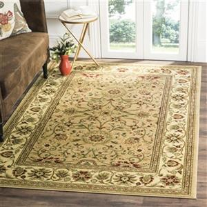 Safavieh Lyndhurst 5-ft x 8-ft Cream and Ivory Rectangular Floral Woven Area Rug