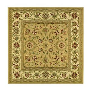 Safavieh Lyndhurst 6-ft x 6-ft Cream and Ivory Square Floral Woven Area Rug