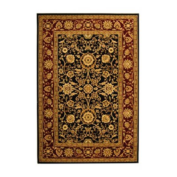 Safavieh Lyndhurst 5-ft x 8-ft Black and Red Rectangular Floral Woven Area Rug