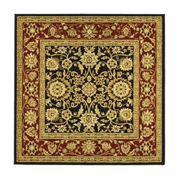 Safavieh Lyndhurst 6-ft x 6-ft Black and Red Square Floral Woven Area Rug