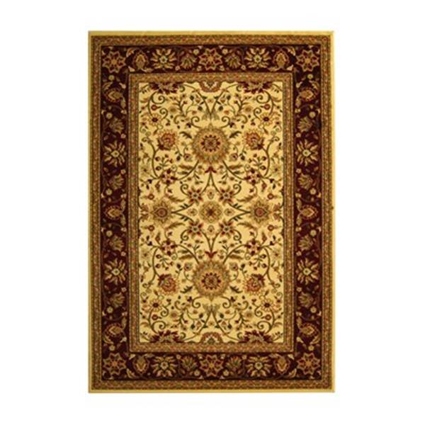 Safavieh Lyndhurst 5-ft x 8-ft Red Rectangular Floral Woven Area Rug