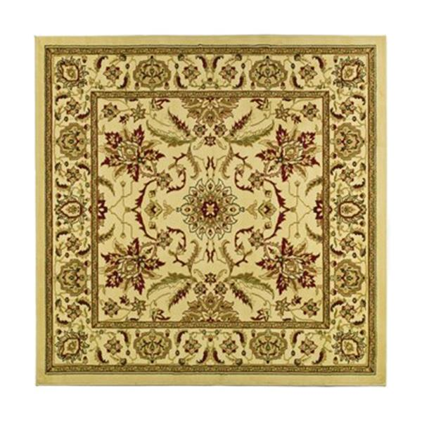 Safavieh Lyndhurst 6-ft x 6-ft Cream Square Floral Woven Area Rug