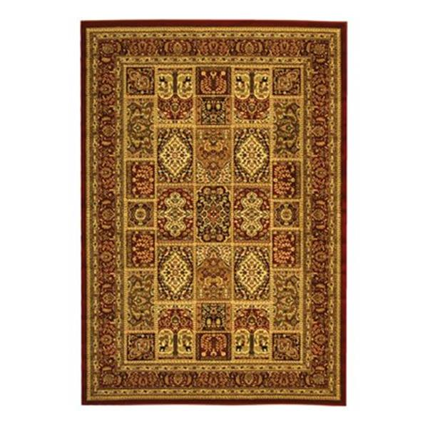 Safavieh Lyndhurst 5-ft x 8-ft Red Rectangular Floral/Oriental Woven Area Rug