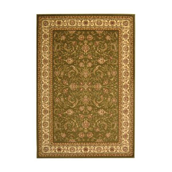 Safavieh Lyndhurst 5-ft x 8-ft Green Rectangular Floral/Oriental Woven Area Rug