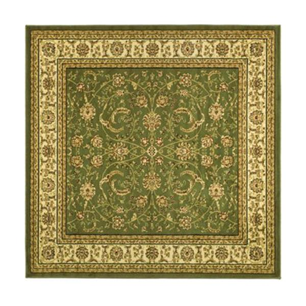 Safavieh Lyndhurst 6-ft x 6-ft Green Square Floral/Oriental Woven Area Rug