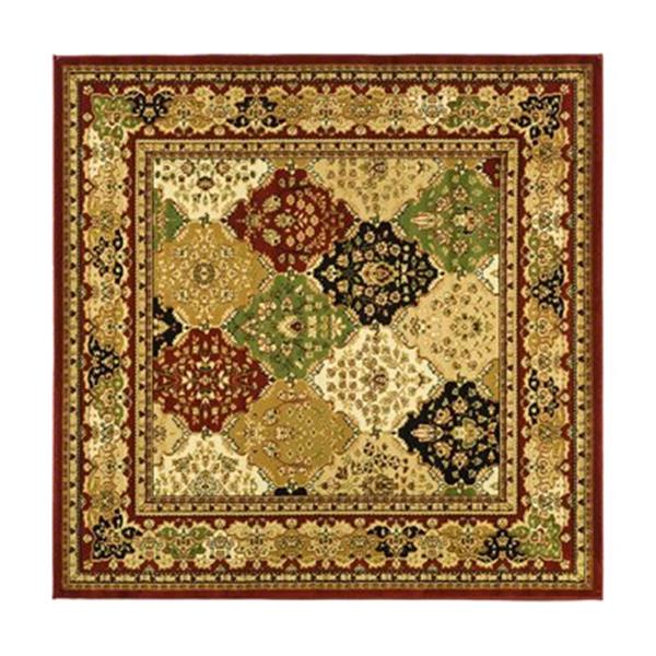 Safavieh Lyndhurst 6-ft x 6-ft Red Square Floral Woven Area Rug