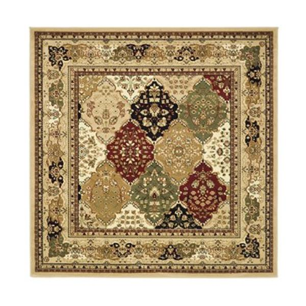Safavieh Lyndhurst 6-ft x 6-ft Brown Square Floral Woven Area Rug