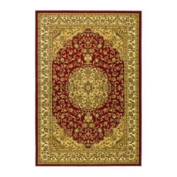 Safavieh Lyndhurst 5-ft x 8-ft Red and Ivory Rectangular Floral Woven Area Rug