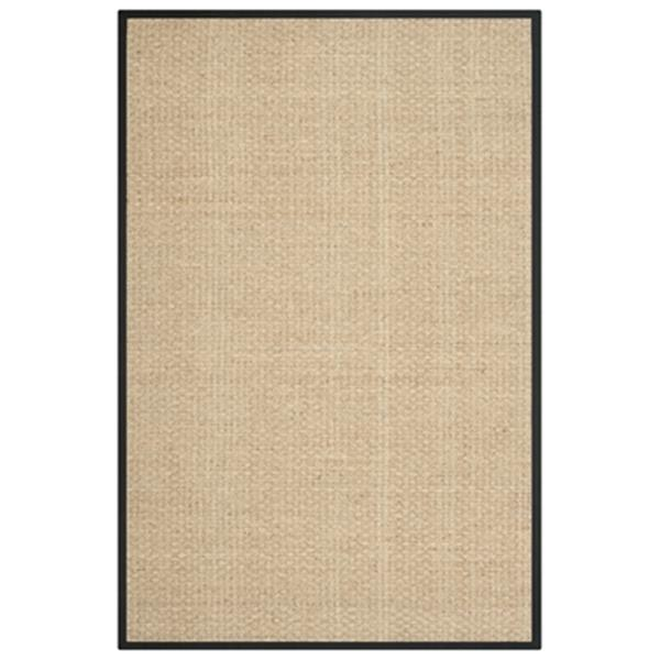 Safavieh Natural Fiber 8-ft x 5-ft Beige and Black Area Rug