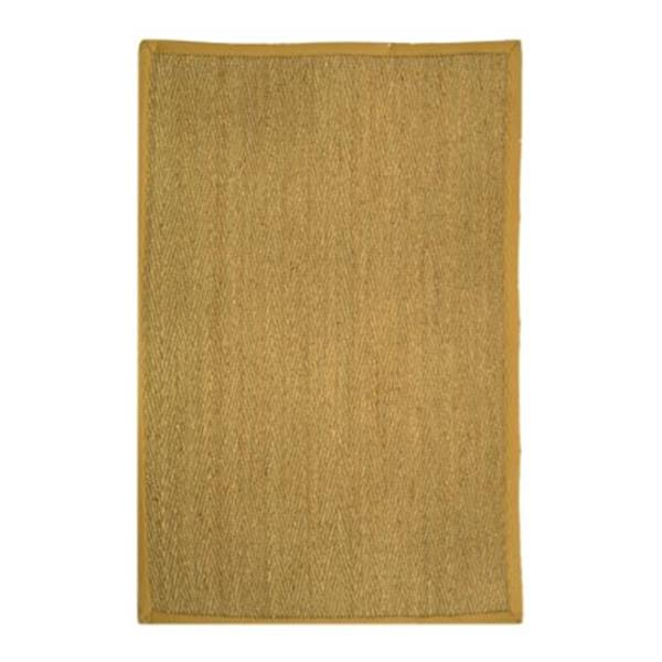 Safavieh Natural Fiber 8-ft x 5-ft Seagrass and Beige Area Rug