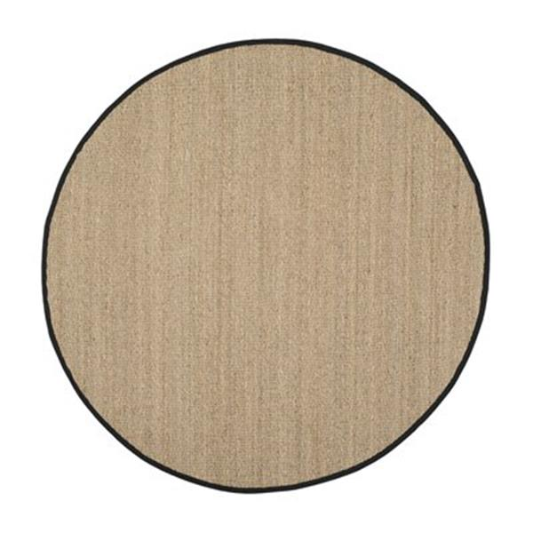 Safavieh Natural Fiber Natural and Black Area Rug,NF115C-6R