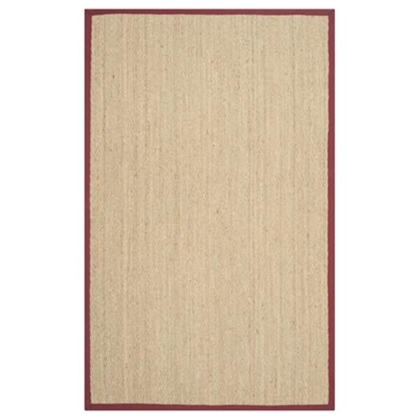 Safavieh Natural Fiber 8-ft x 5-ft Natural and Red Area Rug