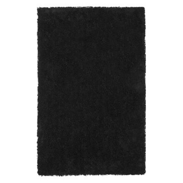Safavieh Shag 72-in X 48-in Black Area Rug
