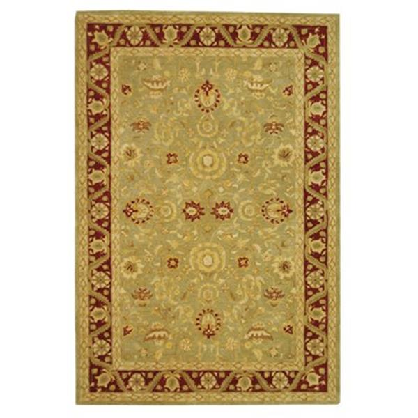 Safavieh Anatolia 27-in. Light Green/Red Runner
