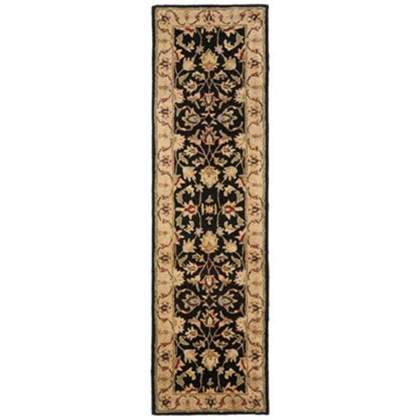 Safavieh Heritage 27-in Black/Gold Runner