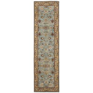 Safavieh Heritage 27-in Blue/Gold Runner