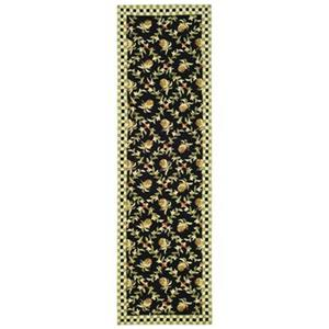 Safavieh Chelsea 30-in Black/Ivoryi Runner