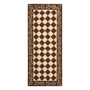 Safavieh Chelsea 30-in Brown/Ivory Runner