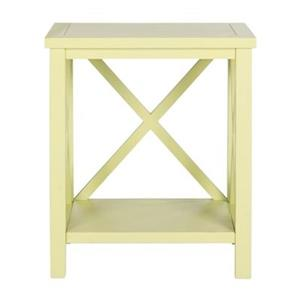 Safavieh American Home 21.5-in Candace Crossback Avocado Green Wood End Table