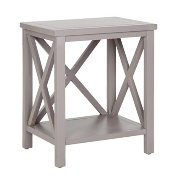 Safavieh American Home 21.5-in Candace Crossback Grey Wood End Table