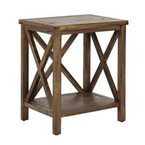 Safavieh American Home 21.5-in Candace Crossback Oak Wood End Table