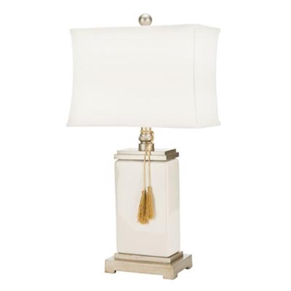 Safavieh 29.50 White Amiliana Tassel Lamp