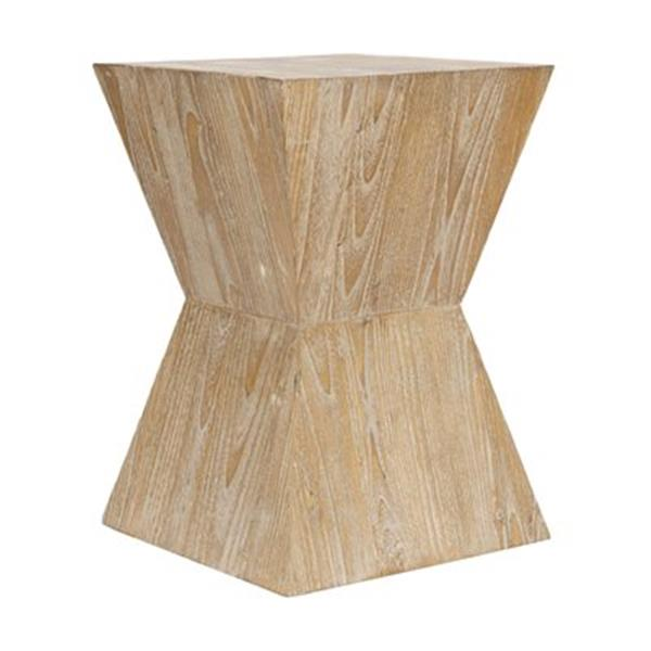 Safavieh Noatak 19.5-in Distressed Oak Wood Side Table