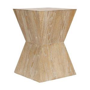 Safavieh Noatak 19.5-in Distressed Oak Wood Side Table