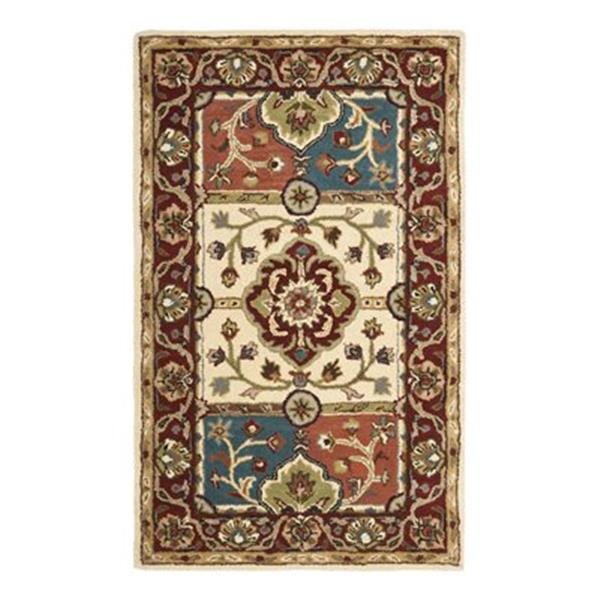 Safavieh Heritage 72-in X 48-in Red Area Rug