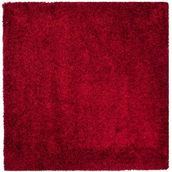 Safavieh Shag 60-in X 60-in Red Area Rug