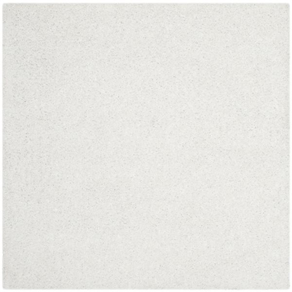 Safavieh Shag 60-in X 60-in White Area Rug