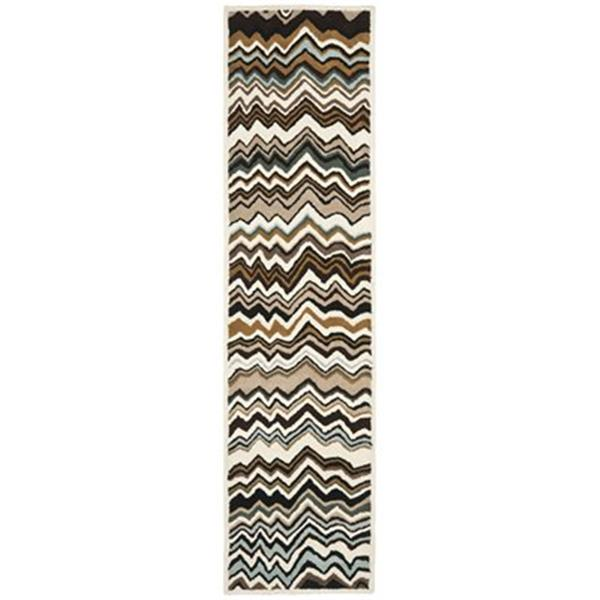 Safavieh Wyndham 9-ft x 2.25-ft Brown and Multicolour Area Rug