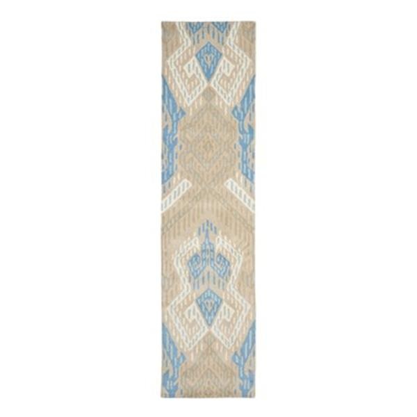 Safavieh Wyndham 9-ft x 2.25-ft Blue and Ivory Area Rug