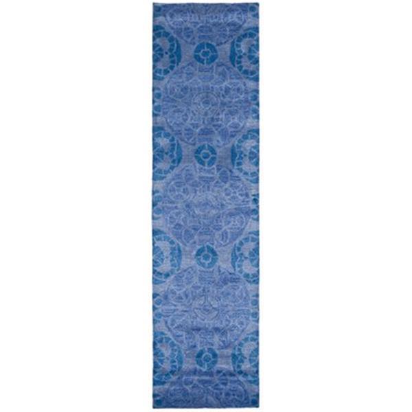 Safavieh Wyndham 9-ft x 2.25-ft Blue Area Rug