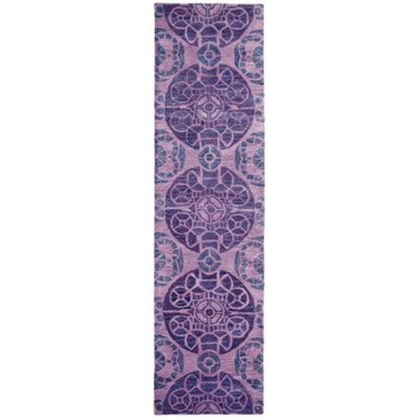 Safavieh Wyndham 9-ft x 2.25-ft Purple Area Rug