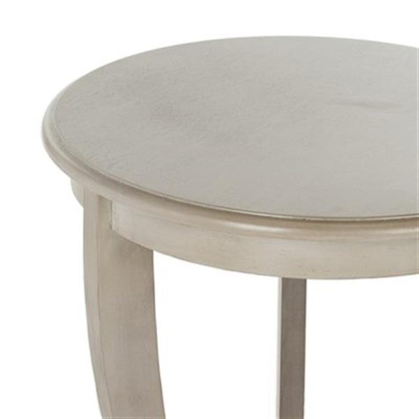 Safavieh Mary 26-in Vintage Grey Pedestal Wood Side Table